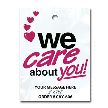 Stock Designs Litterbags - We Care About