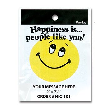 Stock Designs Litterbags - Happiness