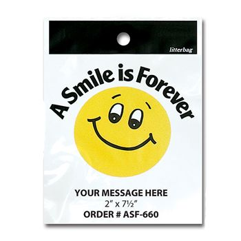 Stock Designs Litterbags - A Smile Forev