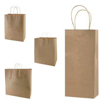 Natural Kraft Shopping Bags - thumbnail view