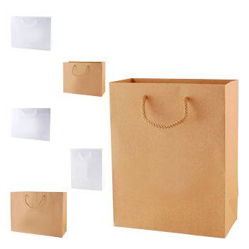 White & Natural Kraft Eurototes