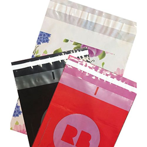 Custom Printed Low Density Poly Mailers - detailed view