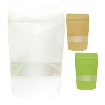 Rice Paper Stand Up Pouch - thumbnail view ...  sc 1 st  APlasticBag.com & Go Zen with Rice Paper Stand Up Pouches | APlasticBag.com