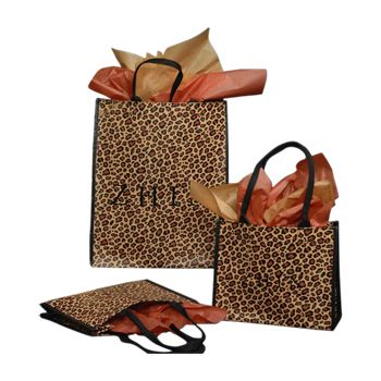 Imprinted Mosaic / Leopard Woven Bags