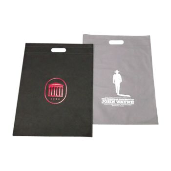 Imprinted Non-Woven Die Cut Merch Bags - thumbnail view