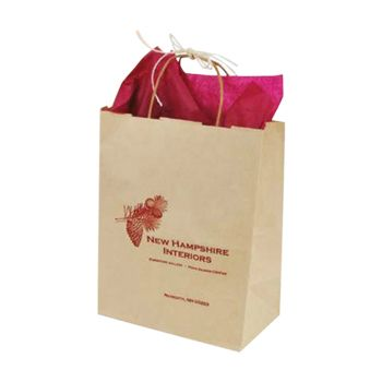 Imprinted Oatmeal Shopping Bags