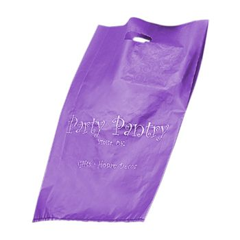 Imprinted Frosted Die Cut Merch Bags