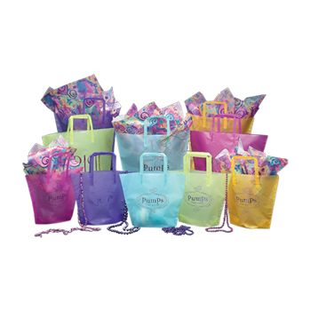 Imprinted Frosted Trapezoid Bags