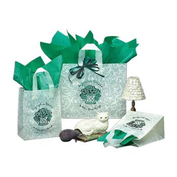 Imprinted Scroll Design Frosted Bags