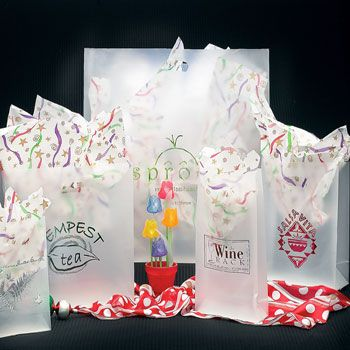 Imprinted Frosted Clear Die Cut Shopper