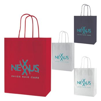 Imprinted Gloss Coated Shopping Bags - thumbnail view