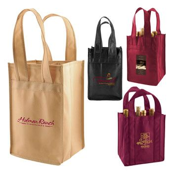 Imprinted 2,4,6 Bottle Wine Totes