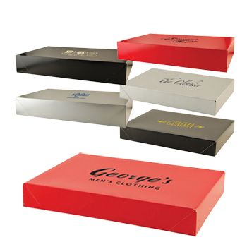 Imprinted Gloss Apparel Boxes