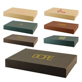 Imprinted Tinted Kraft Apparel Boxes