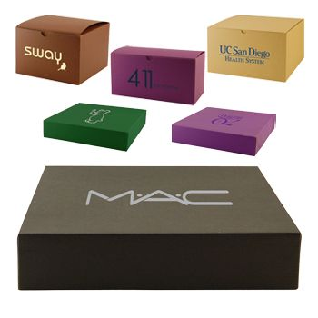 Imprinted Tinted Kraft Gift Boxes