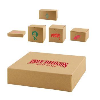 Imprinted Natural Kraft Gift Boxes - thumbnail view
