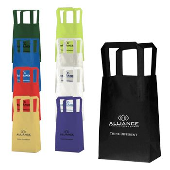 Frosted Colored Tri-Fold Handle Bags