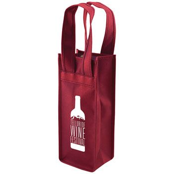 Imprinted 1 Bottle Non-Woven Tote