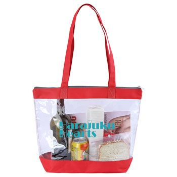 Imprinted Clear Tote - thumbnail view