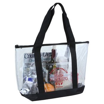 Imprinted Clear Boat Tote - thumbnail view