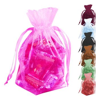 Gusseted Organza Pouches