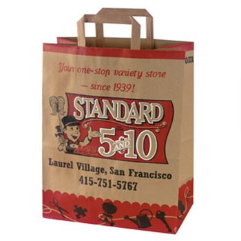Custom Flat Handle Shopping Bags