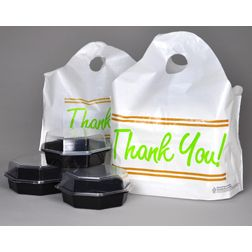 "Wavel Top Carry Handle "" Thank You"" Bags"