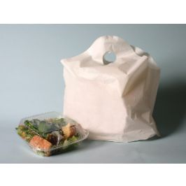White Bell Top Carry Handle Bags
