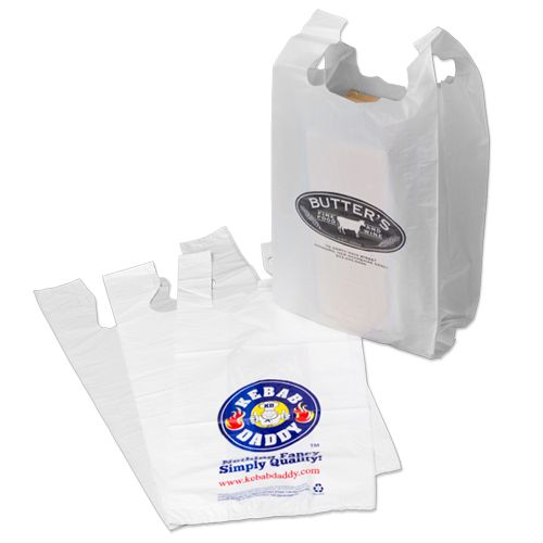 Custom Printed Supermarket T-Shirt Bags - thumbnail view