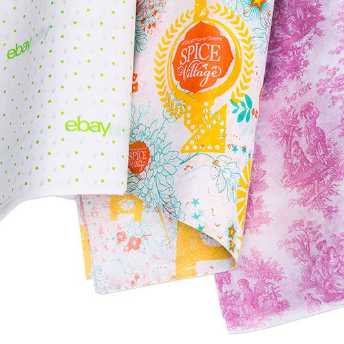 Custom Printed White/Kraft Tissue Papers