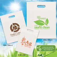 Custom Oxo-Biodegradable Die Cut Bags