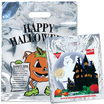 Metallic Halloween Bags