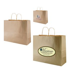 Custom Metallic Kraft Shopping Bags