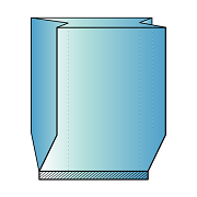 Custom Printed Gusseted Poly Tubing