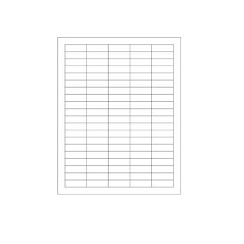 Laser Printer Labels - Size: 1 1/2 x 1/2