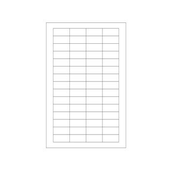 Laser Printer Labels - Size: 4 x 1 1/3