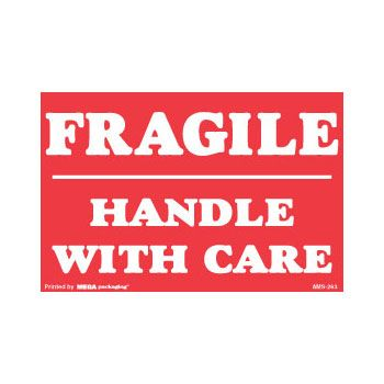 Fragile Labels - 2 1/2 x 2 1/2