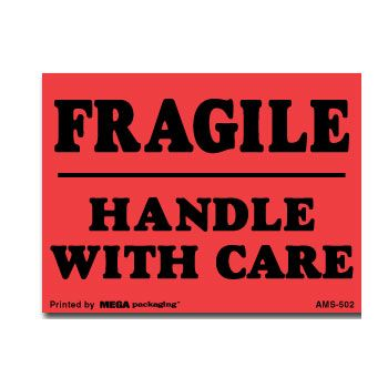 Fragile Labels - 6 x 6