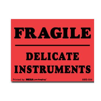 Fragile Labels - 2 1/2 x 7