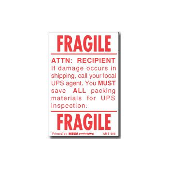 Fragile Labels - 3 x 4