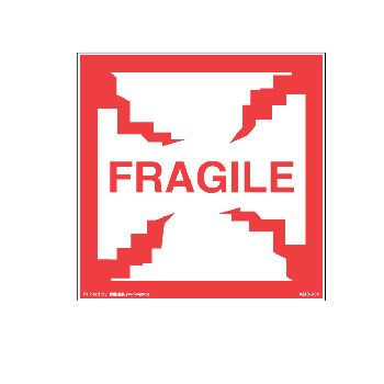 Fragile Labels - 4 x 4