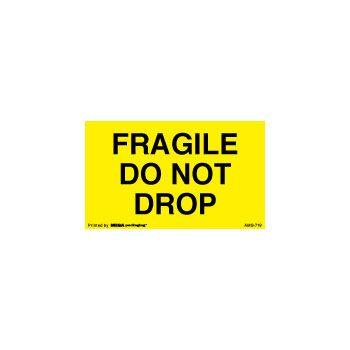 Fluorecent Fragile Labels - 3 x 5