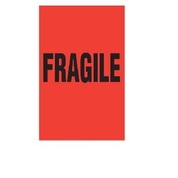 Fluorecent Fragile Labels - 4 x 6