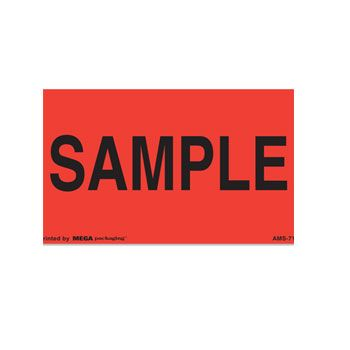 Presure Sensitive Shipping Labels - 3 x 5