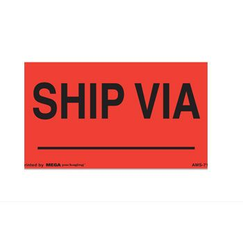 Presure Sensitive Shipping Labels - 3 x 4