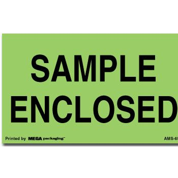 Fluorescent Enclosed Shipping Labels - 3 x 5