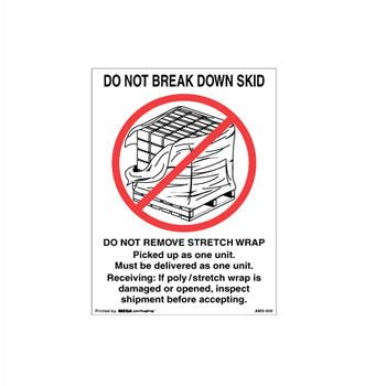 Pressure Sensitive Do Not.. Labels - 2 x 4 1/2