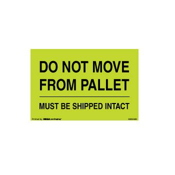 Pallet Protection Labels - 8 x 10