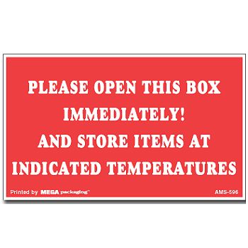 Pressure Sensitive Climate Labels - 3 x 5