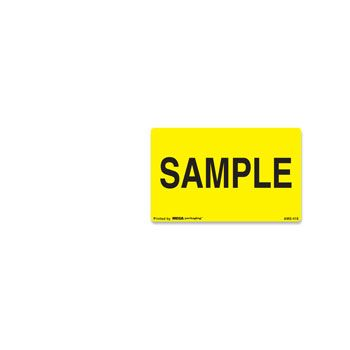 Fluorescent Production Labels - 3 x 5